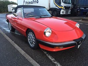 1986 Alfa Romeo Spider 2 litre Convertible in Red