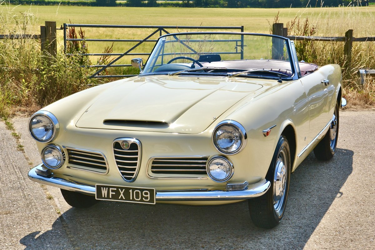 1963 Alfa Romeo 2600 Spider by Touring RHD For Sale (picture 1 of 6)