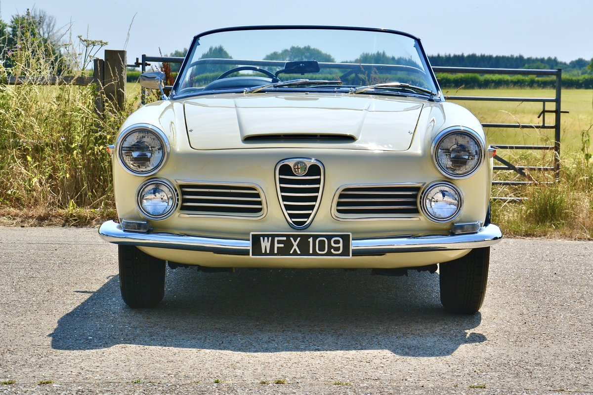 1963 Alfa Romeo 2600 Spider by Touring RHD For Sale (picture 2 of 6)