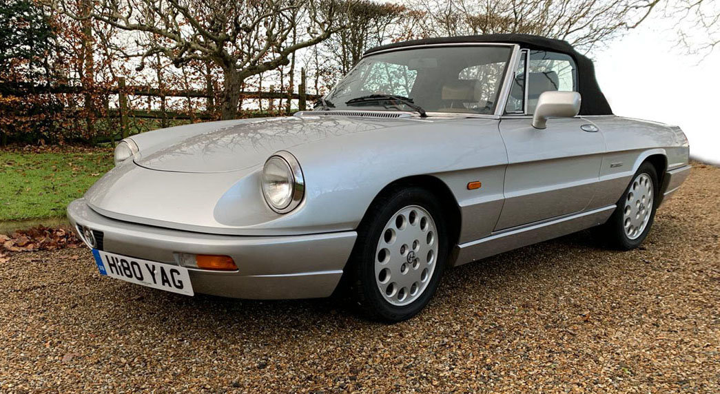 1990 Alfa Romeo Spider S4 2.0L 22 Feb 2020 For Sale by Auction (picture 1 of 4)