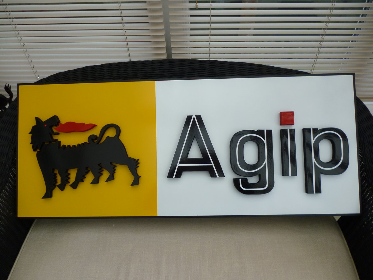 AGIP Hand Made 3D Sign For Sale (picture 1 of 3)