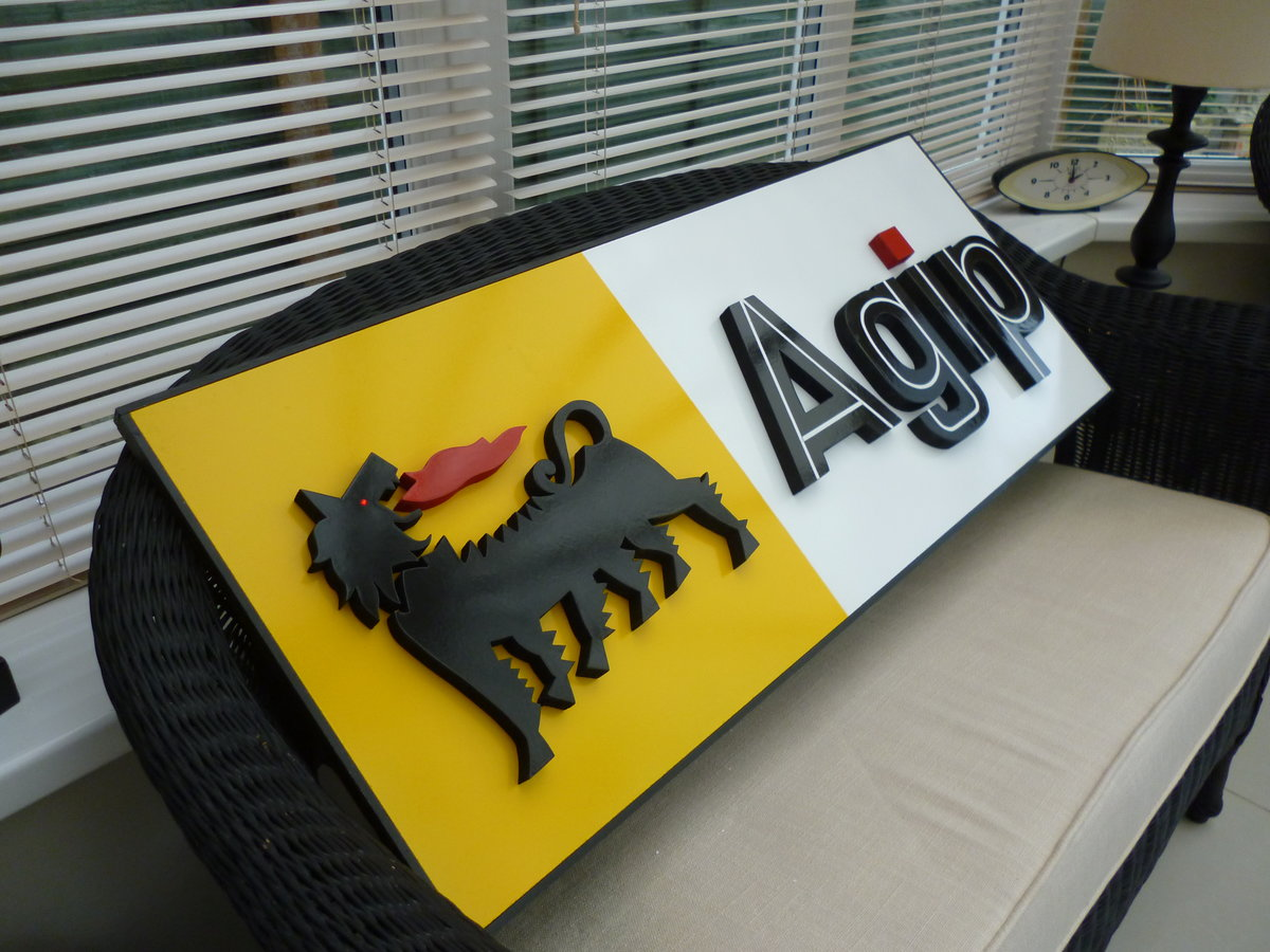 AGIP Hand Made 3D Sign For Sale (picture 2 of 3)
