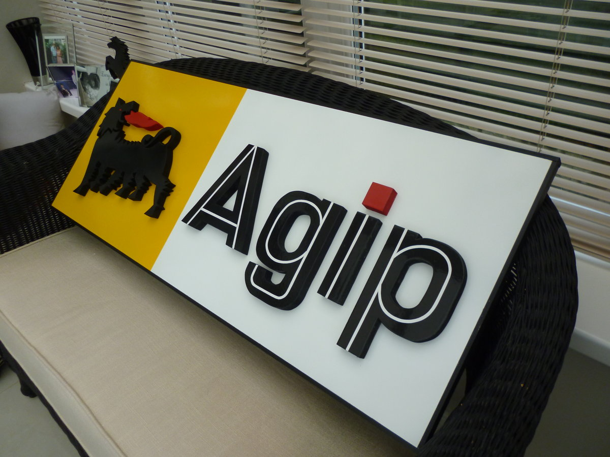 AGIP Hand Made 3D Sign For Sale (picture 3 of 3)