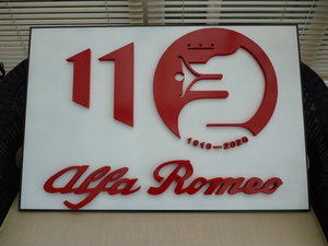 3D Alfa Romeo 110th Year Celebration Sign