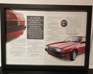 1986 Original Alfa 75 Framed Advert