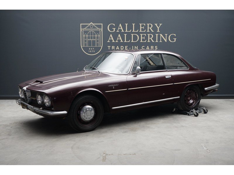 1963 Alfa Romeo 2600 Sprint California black plate car, very orig For Sale (picture 1 of 6)