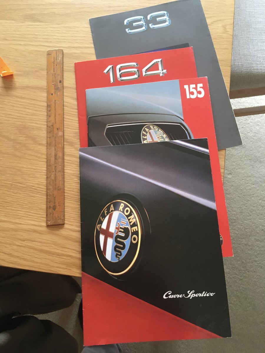 1994 Alfa Romeo 155,33,164 folder brochure  For Sale (picture 1 of 1)
