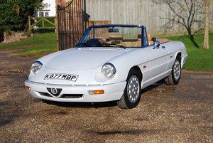 1992 Alfa Romeo Spider S4, Low mileage, hardtop, history, VGC