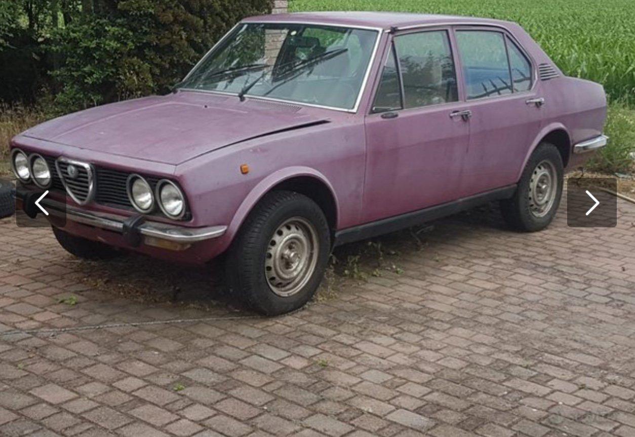1975 Alfa Romeo Alfetta 1.8 RHD runs very solid For Sale (picture 1 of 6)
