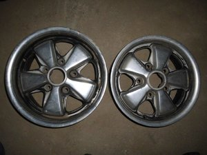 PORSCHE old type FUCHS Wheels & 914 Parts