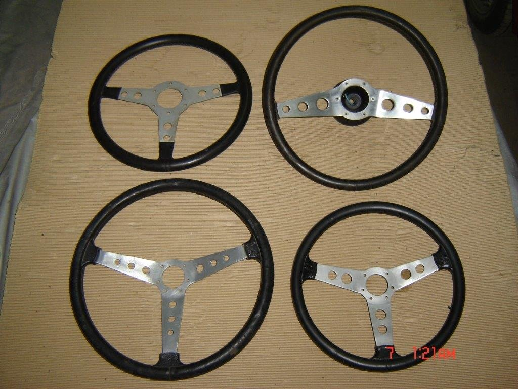 Nice Collection of Beautiful Old STEERING WHEELS For Sale (picture 1 of 6)