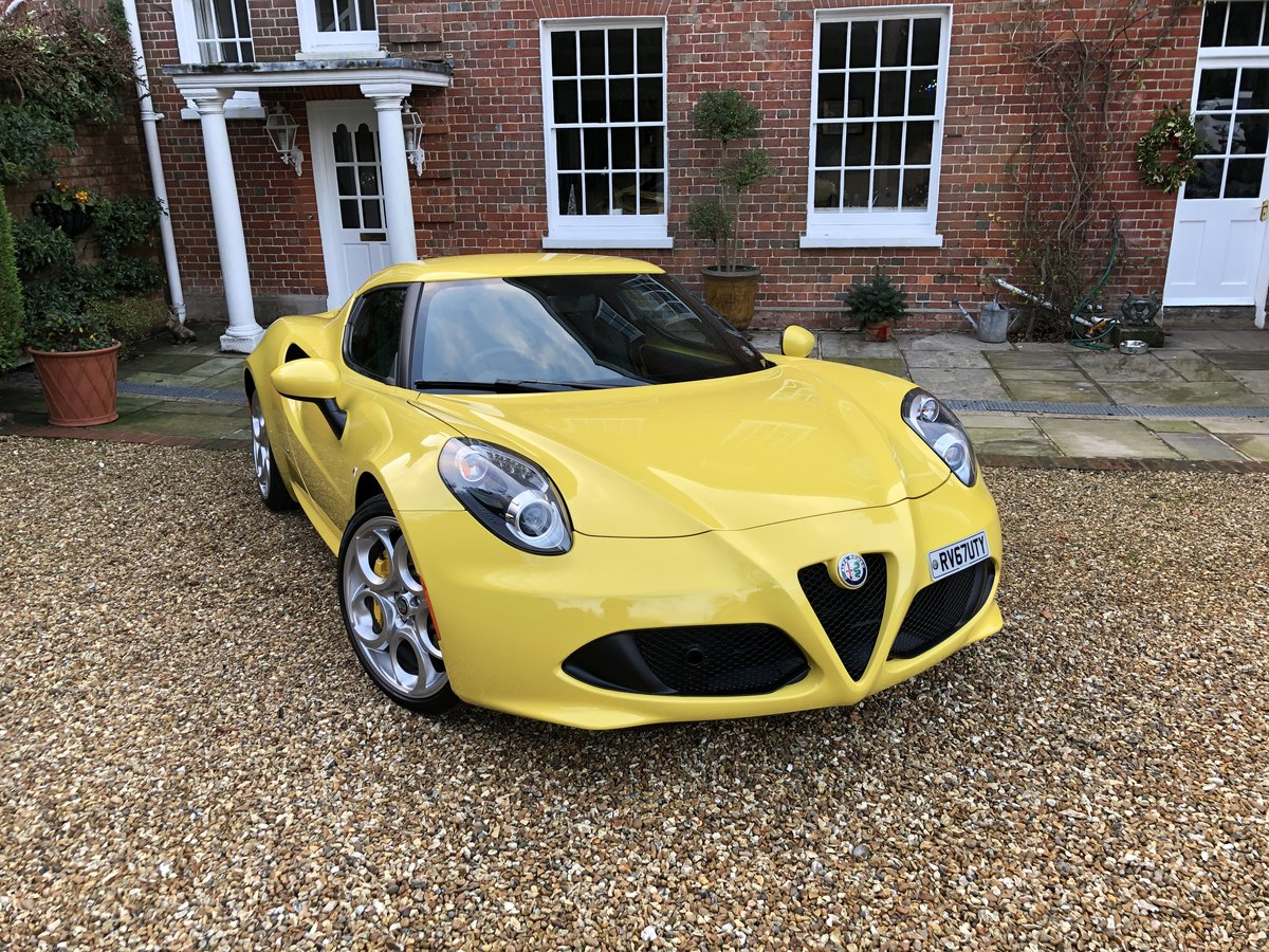 2017 Alfa Romeo 4c like new 2000 miles SOLD (picture 1 of 6)