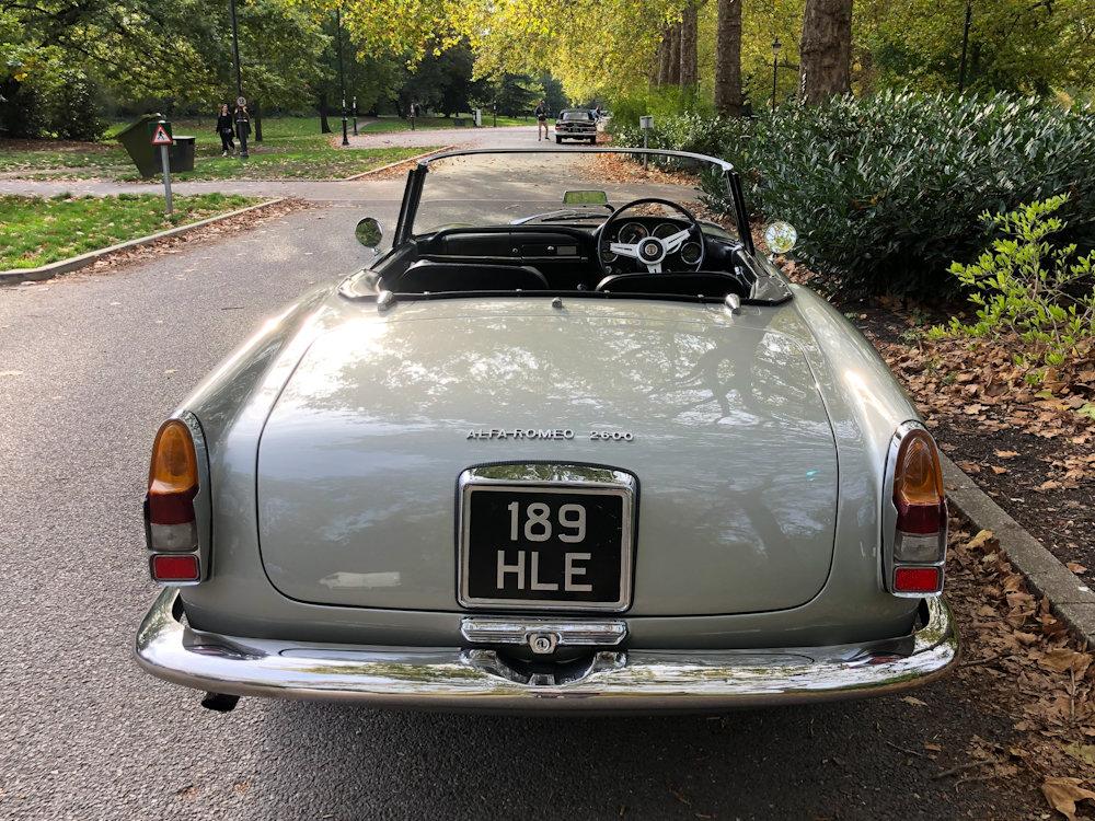 1964 Alfa Romeo 2600 Spider For Sale (picture 11 of 24)