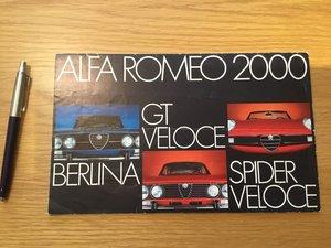 Picture of 1989 Alfa Romeo 2000 brochure SOLD