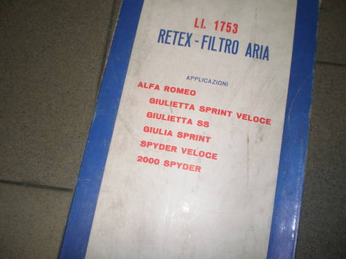 alfa romeo air filter Fispa For Sale (picture 2 of 3)