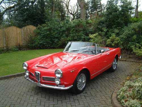1964 Alfa Romeo 2600 Spider by Touring of Milan LHD £149,950 For Sale (picture 3 of 6)