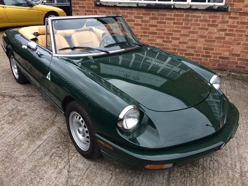 1993 Alfa Romeo Spider 2.0 S4 LHD Immaculate 55000 miles  SOLD (picture 1 of 6)