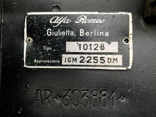 1963 Alfa Romeo - Giulietta 1300 - FIRST ITALIAN REGISTRATION For Sale (picture 6 of 6)