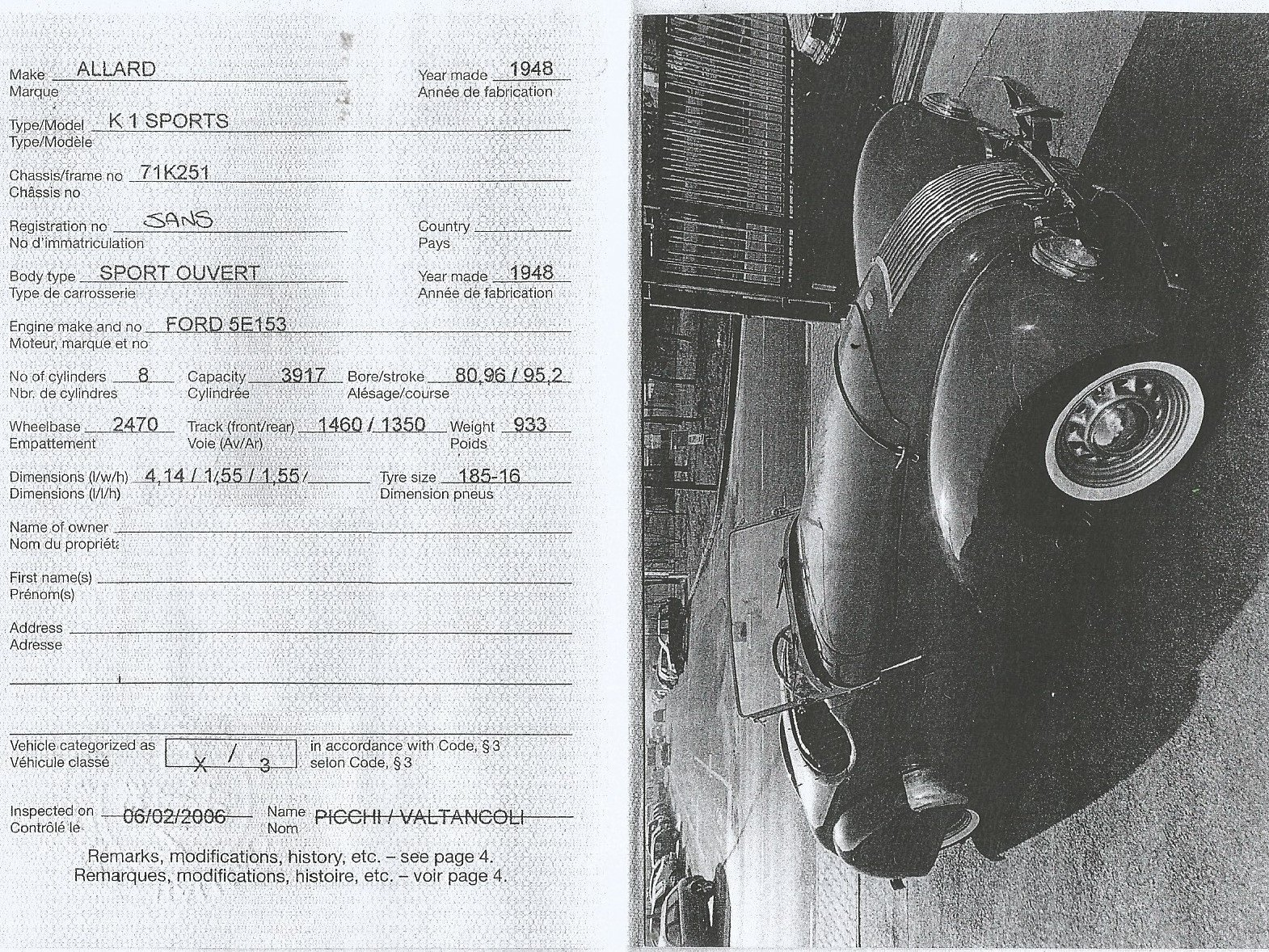 1948 ALLARD K1 1000 MIGLIA ELIGIBLE For Sale (picture 12 of 12)