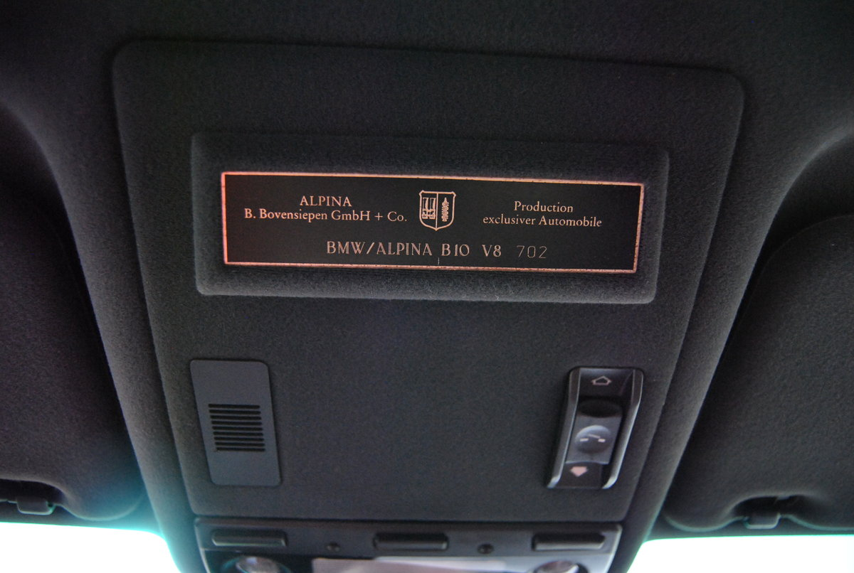 1999 BMW ALPINA B10 V8 SWITCHTRONIC - REDUCED For Sale (picture 6 of 6)