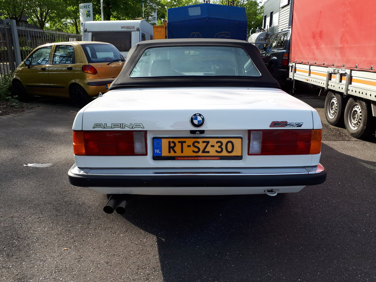 1988 Alpina C2 2,7 Cabrio E30 as new, fully restored 150000 km For Sale (picture 6 of 6)