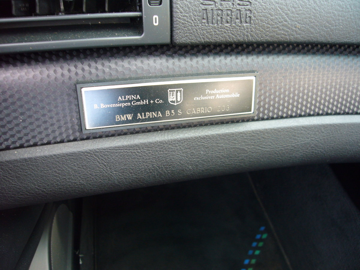 2004 BMW ALPINA B3s CONVERTIBLE, For Sale (picture 4 of 6)