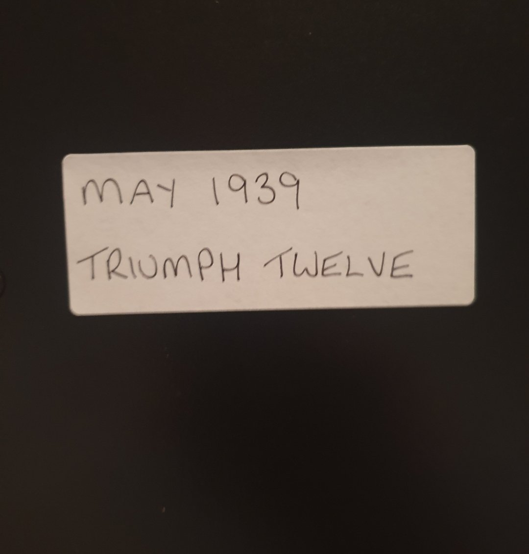 1984 Original 1939 Triumph Twelve Framed Advert  For Sale (picture 2 of 3)