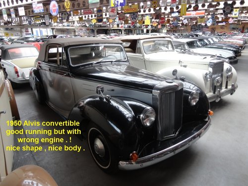 1946 Beautiful very rare Alvis convertible. For Sale (picture 5 of 6)