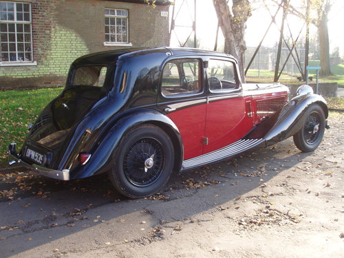 1936 Alvis Speed 20 SD Charlesworth saloon For Sale (picture 3 of 6)