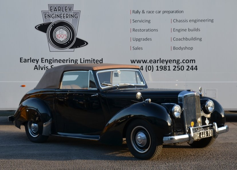 1954 Alvis TA21 Tickford Drophead Coupe For Sale (picture 1 of 6)