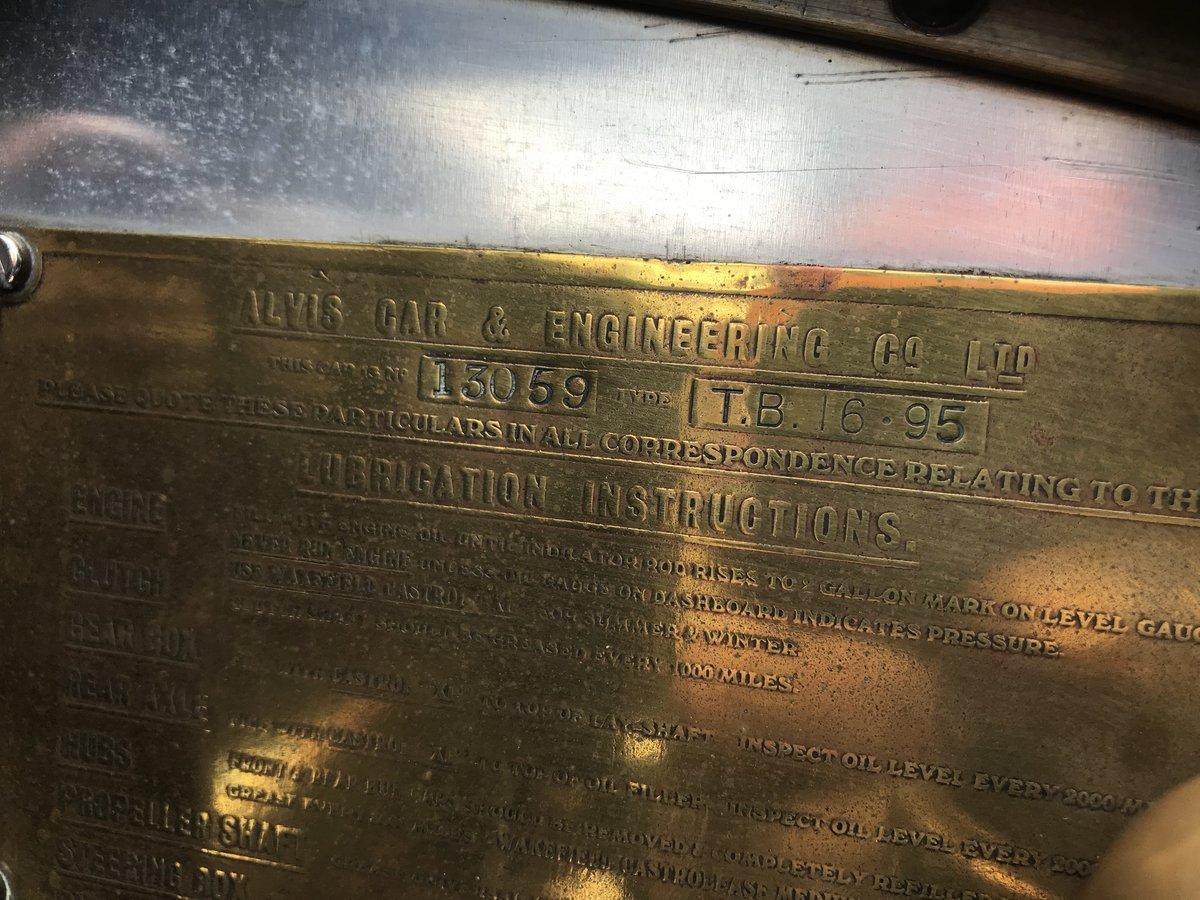 1930 Alvis Silver Eagle 16.95 TB Tourer For Sale (picture 5 of 6)