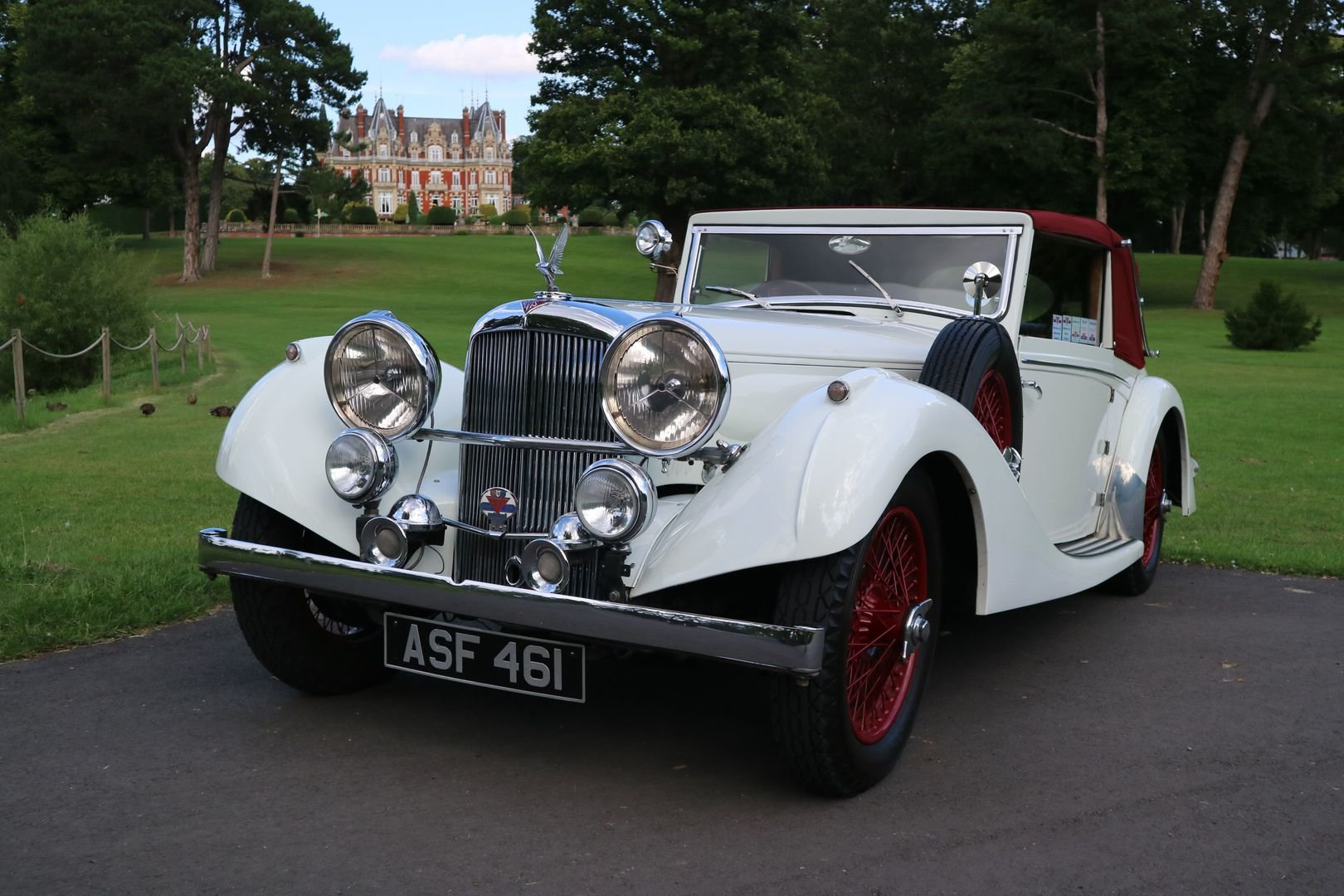 ALVIS SPEED 25 SB Charlesworth Drophead Coupe 1937 with O/D For Sale (picture 2 of 6)