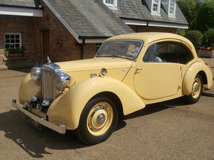 1947 Alvis Duncan Coupe fully restored ex press car For Sale