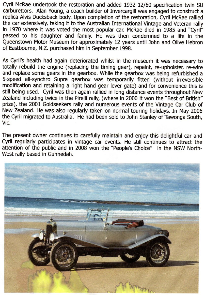 1926 Alvis 12/50 Ducks back For Sale (picture 1 of 1)