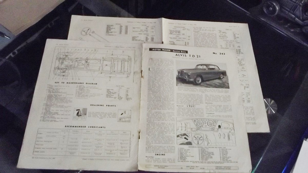 0000 ALVIS TD21 ROAD TEST REPORT AND ORIGINAL  AUTO CAR ADVERT  For Sale (picture 1 of 4)
