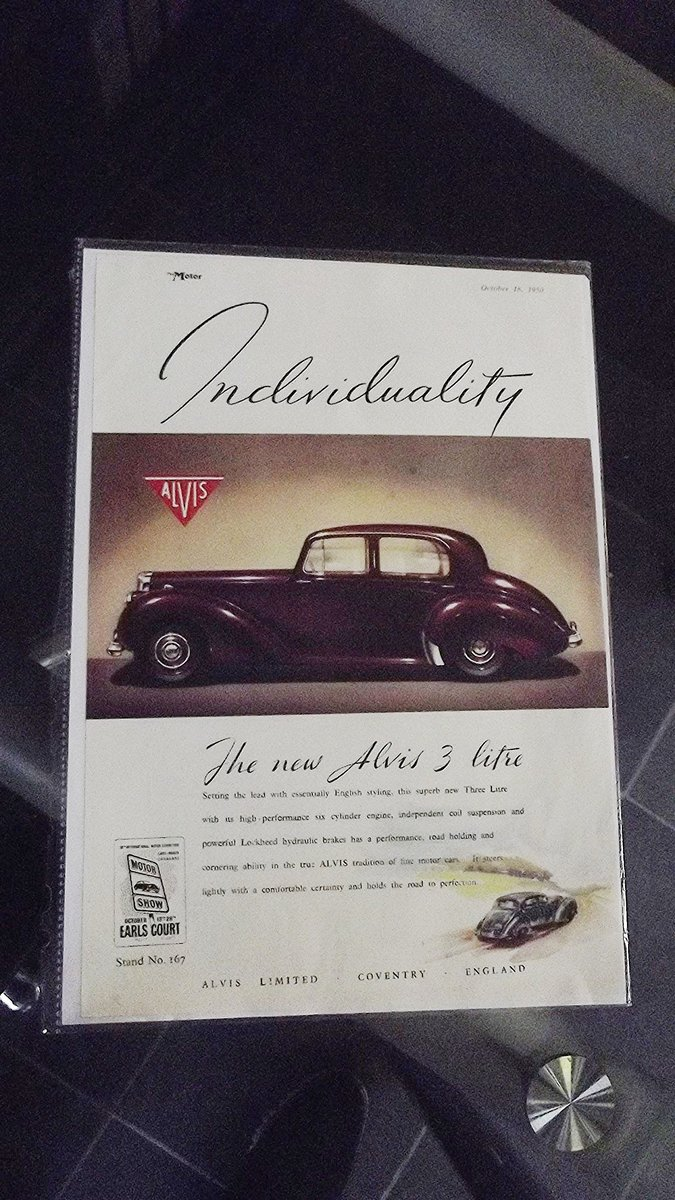 0000 ALVIS TD21 ROAD TEST REPORT AND ORIGINAL  AUTO CAR ADVERT  For Sale (picture 3 of 4)