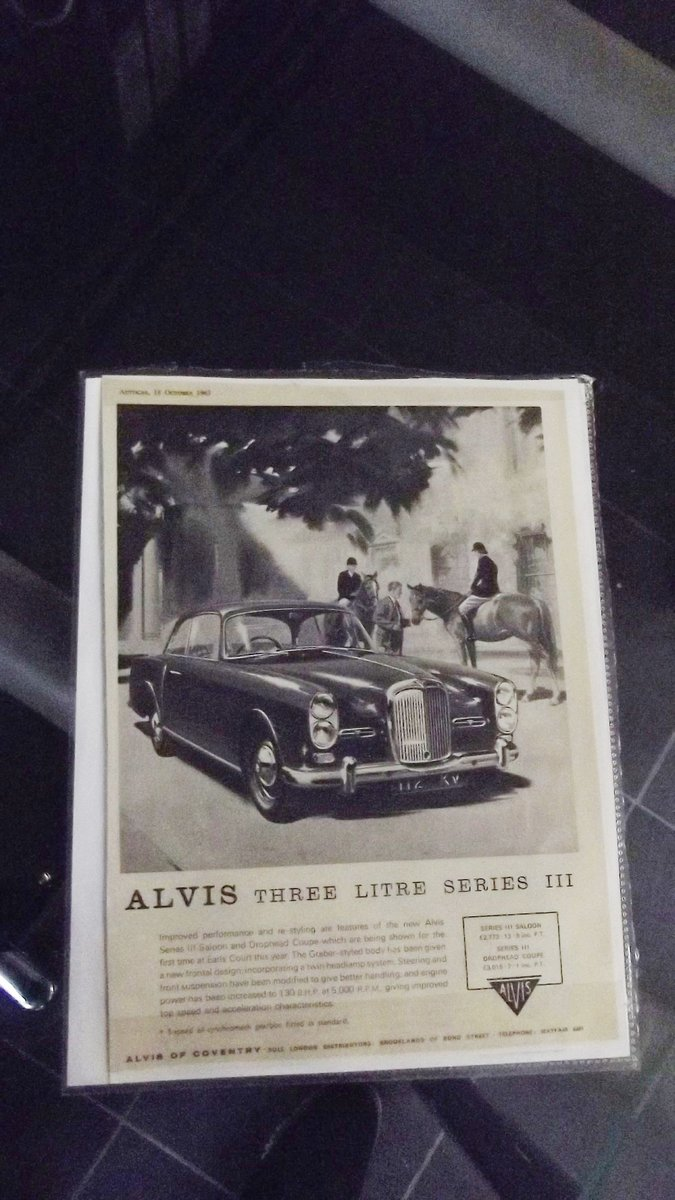 0000 ALVIS TD21 ROAD TEST REPORT AND ORIGINAL  AUTO CAR ADVERT  For Sale (picture 4 of 4)