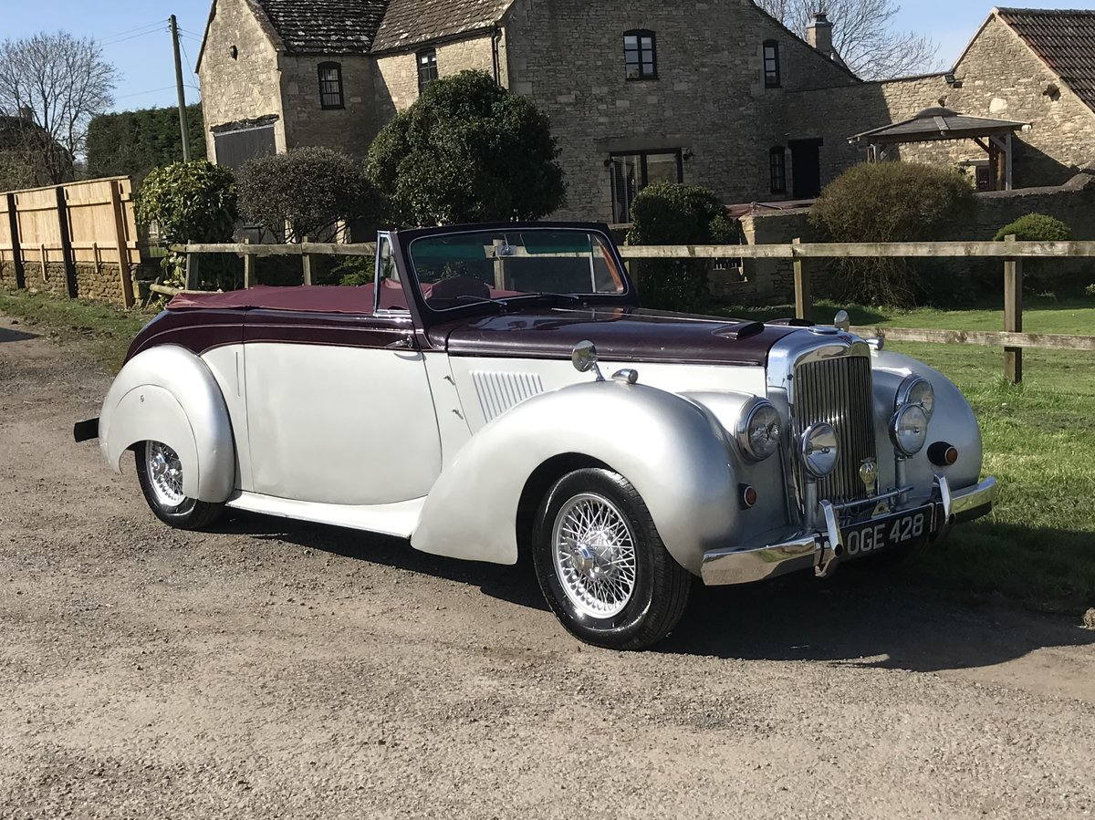1955 Alvis tc21 greylady tickford convertible For Sale (picture 2 of 6)