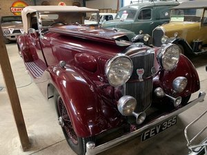 **OCTOBER ENTRY** 1937 Alvis 'Alwil Continental Tourer' For Sale by Auction