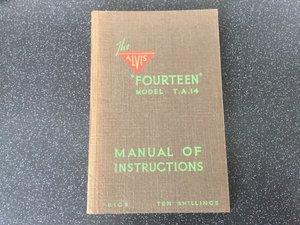 Alvis TA14 original handbook