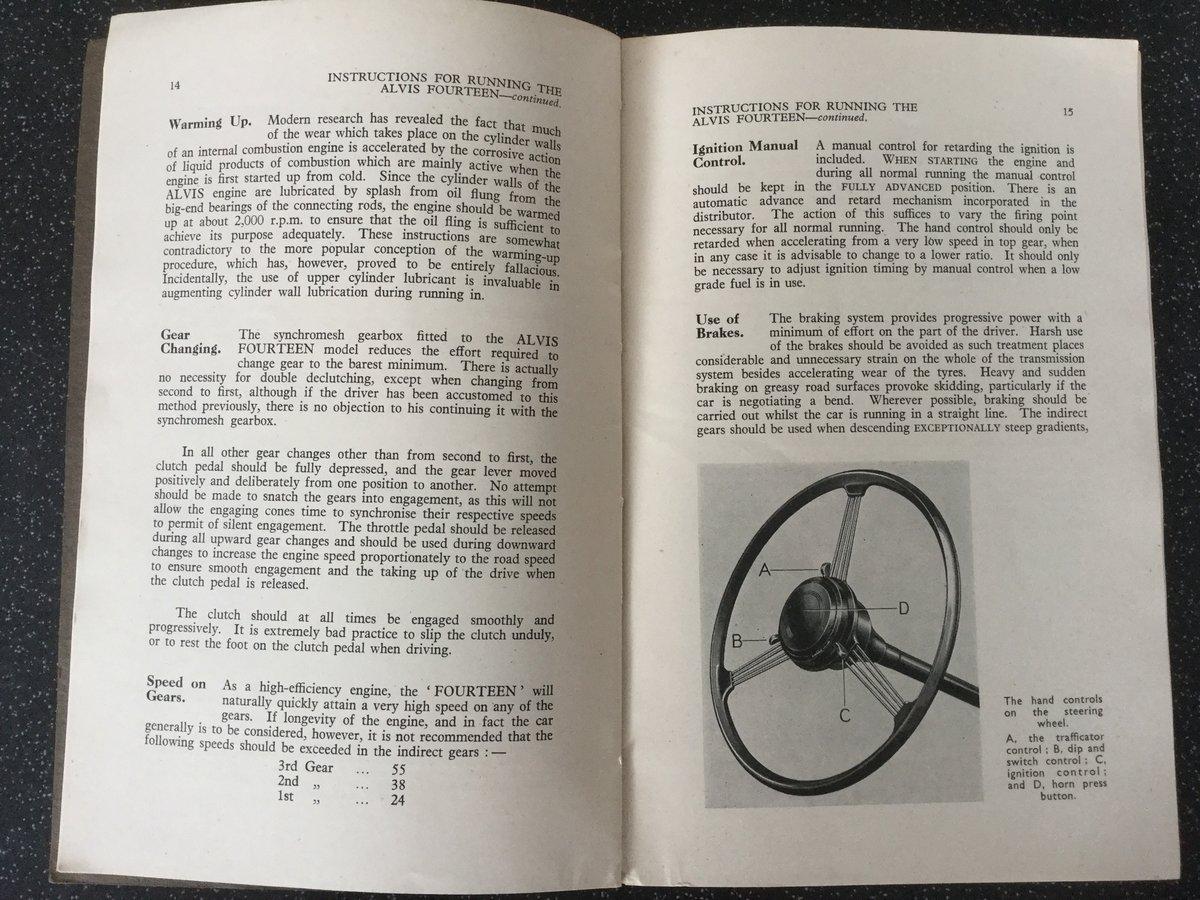 Alvis TA14 original handbook For Sale (picture 3 of 6)