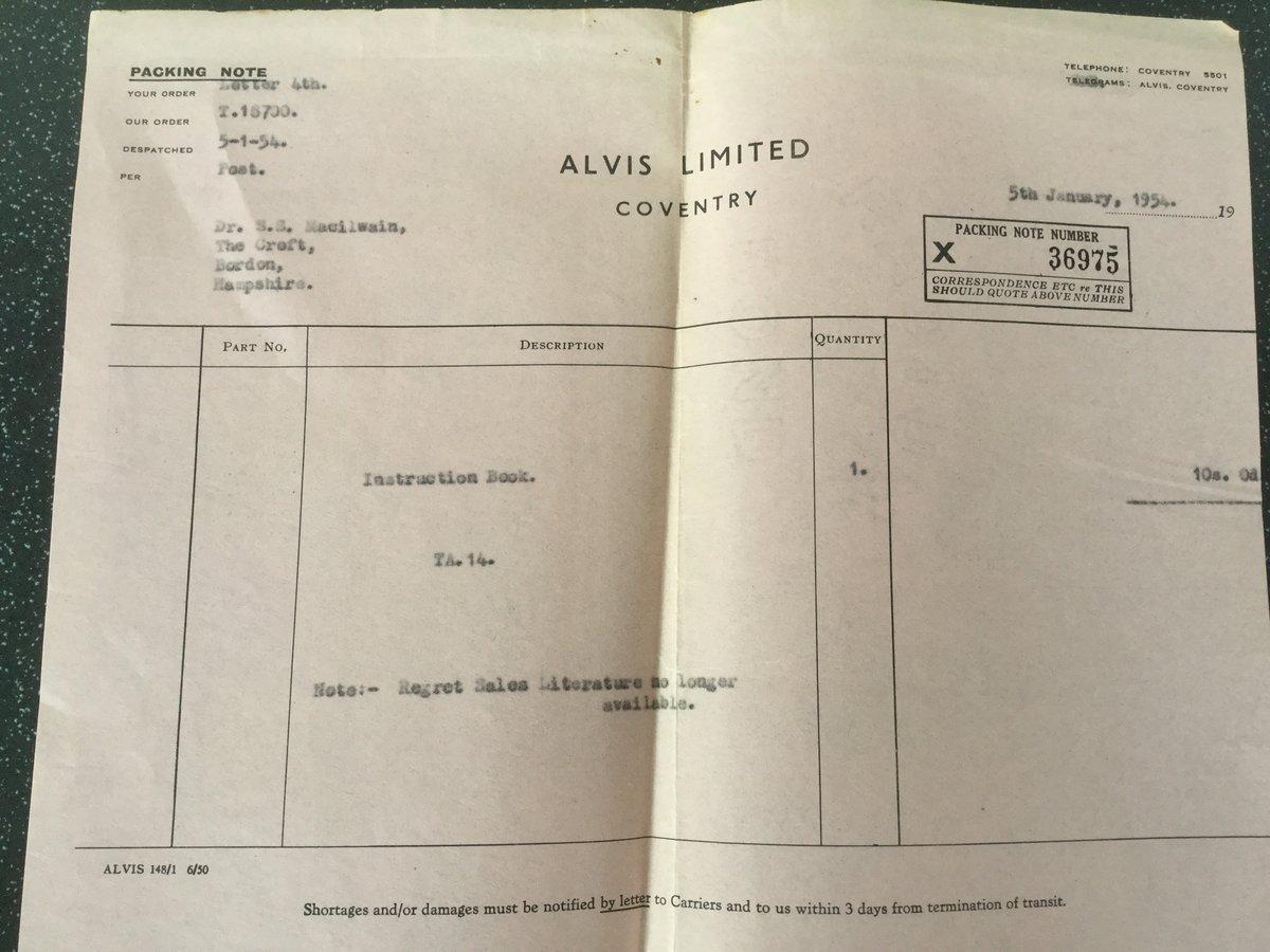 Alvis TA14 original handbook For Sale (picture 4 of 6)