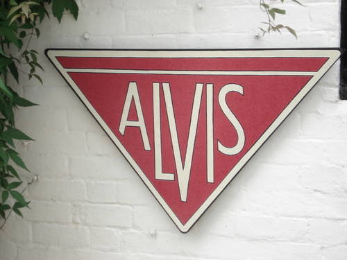 Large Alvis garage sign For Sale (picture 1 of 1)