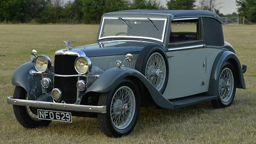 1935 Alvis Silver Eagle 2 door coupé For Sale (picture 1 of 6)