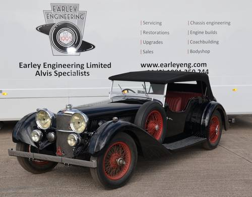 1935 Alvis Speed 20 SC Vanden Plas-2 door sports For Sale (picture 1 of 6)