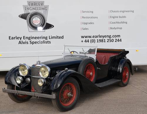 1935 Alvis Speed 20 SC Vanden Plas-2 door sports For Sale (picture 2 of 6)