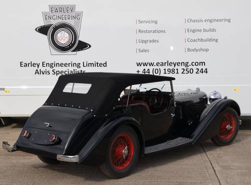 1935 Alvis Speed 20 SC Vanden Plas-2 door sports For Sale (picture 3 of 6)
