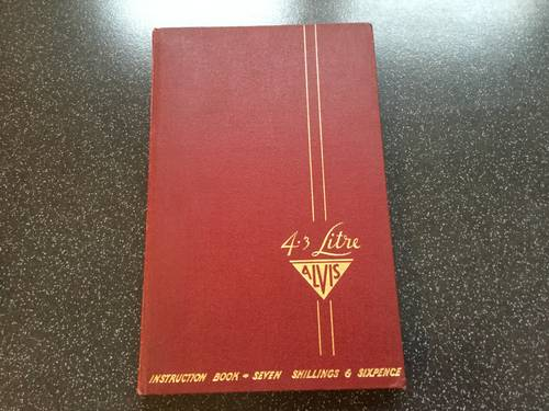 1950 Alvis 4.3 litre original instruction book For Sale (picture 1 of 6)