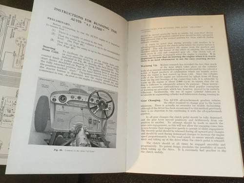 1950 Alvis 4.3 litre original instruction book For Sale (picture 4 of 6)