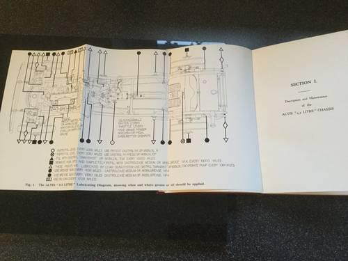 1950 Alvis 4.3 litre original instruction book For Sale (picture 5 of 6)